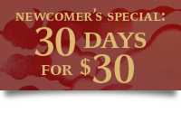 Newcomer&#039;s Special: 30 days for $30